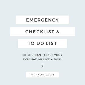 PrimalGirl Emergency Evac List